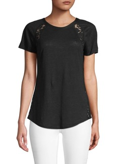 Rebecca Taylor Lace-Inset Tee