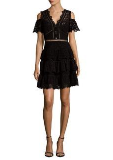 Rebecca Taylor Lace Off-Shoulder Dress