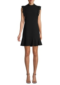 Rebecca Taylor Lace-Trim Mini Dress