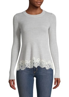 Rebecca Taylor Lace-Trim Sweater