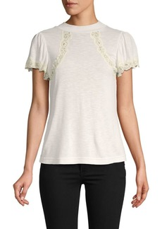 Rebecca Taylor Lace-Trimmed Top