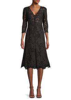 Rebecca Taylor Ladder Lace A-Line Dress