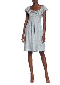 Rebecca Taylor Lauren Floral Ruffled Silk Blend Dress