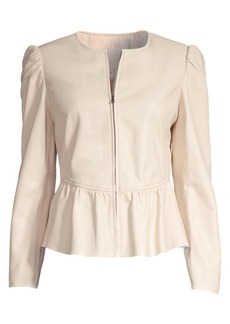 Rebecca Taylor Leather Peplum Jacket
