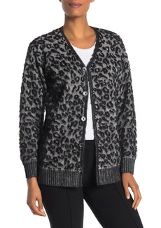 Rebecca Taylor Leopard Print Front Button Cardigan