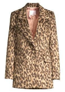 Rebecca Taylor Leopard Print Jacket