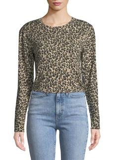 Rebecca Taylor Leopard-Print Merino Pullover Sweater