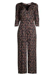 Rebecca Taylor Lia Floral Stretch-Silk Jumpsuit