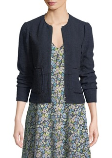 Rebecca Taylor Lightweight Tweed Topper Jacket