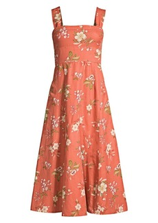 Rebecca Taylor Lita Floral FIt-&-Flare Dress