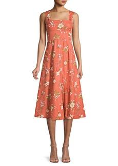 Rebecca Taylor Lita Floral FIt-&-Flare Dress