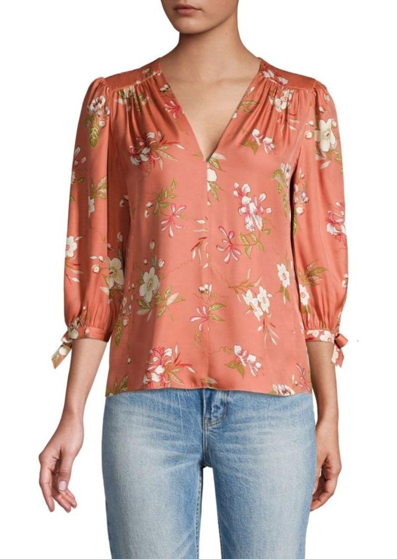 Rebecca Taylor Lita Floral Top