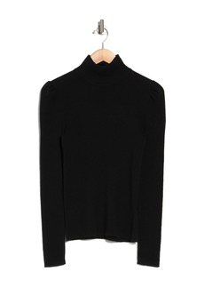 Rebecca Taylor Long Sleeve Cozy Cotton Turtleneck Sweater