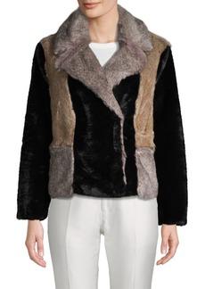 Rebecca Taylor Long-Sleeve Faux Fur Jacket
