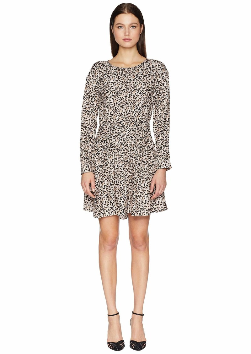 Rebecca Taylor Long Sleeve Leopard Dress
