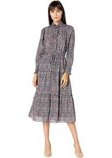 Rebecca Taylor Long Sleeve Long Lilou Dress