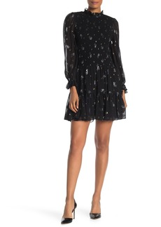 Rebecca Taylor Long Sleeve Printed Dress