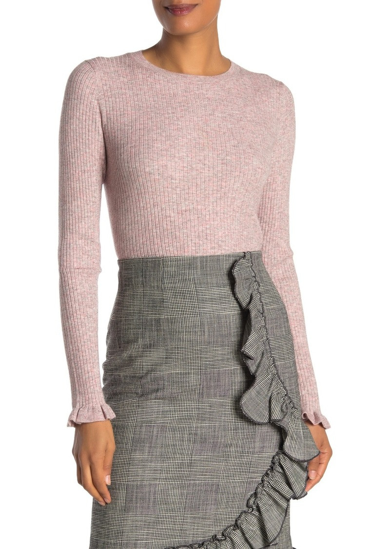 Rebecca Taylor Long Sleeve Ribbed Knit Top
