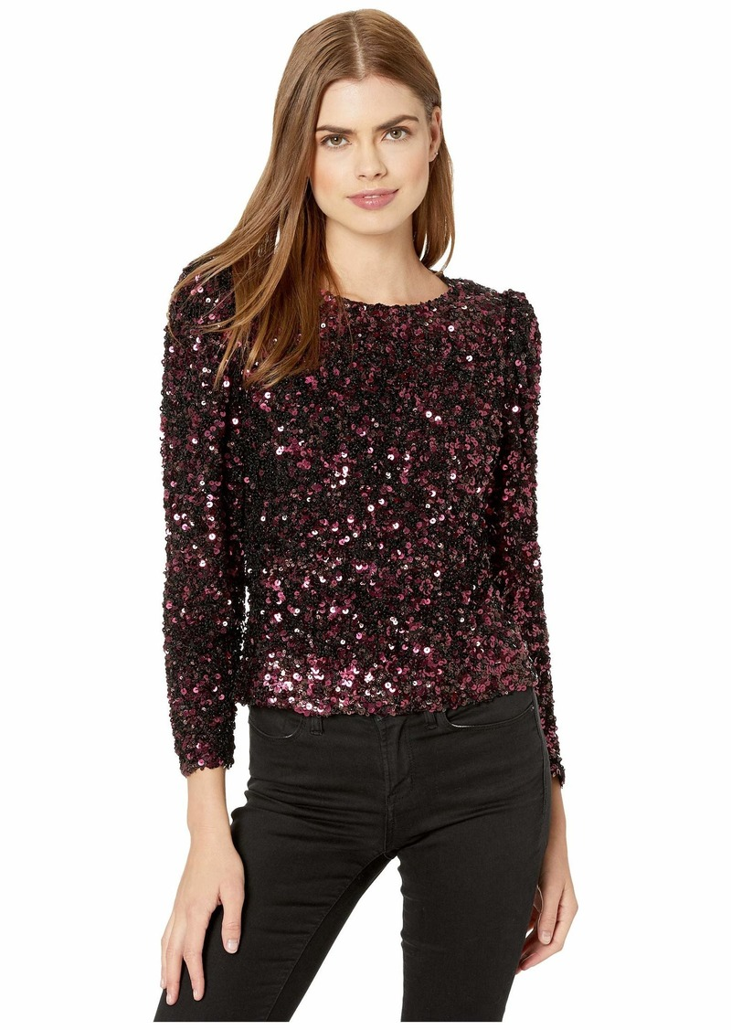 Rebecca Taylor Long Sleeve Sequin Top