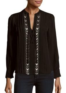 Rebecca Taylor Long Sleeve Silk Top