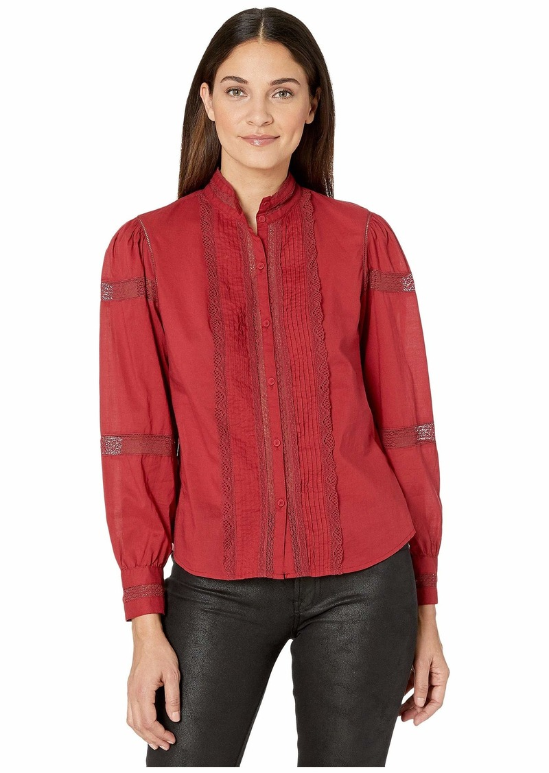 Rebecca Taylor Long Sleeve Voile Lace Top