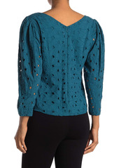 Rebecca Taylor Long Sleeve Winter Garden Top