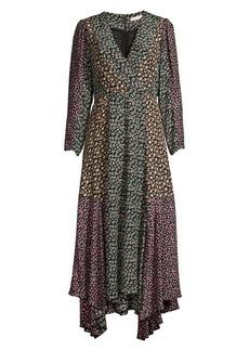 Rebecca Taylor Louisa Silk Handkerchief Wrap Dress