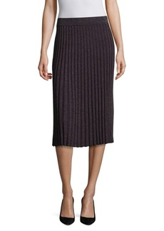 Rebecca Taylor Lurex Ribbed Skirt