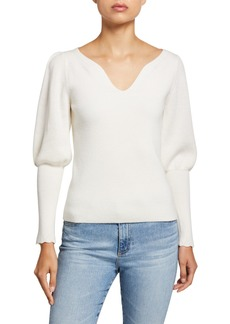 Rebecca Taylor Luxe Merino Pullover Sweater