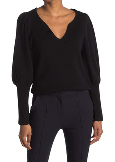 Rebecca Taylor Luxe Merino Wool Blend Pullover