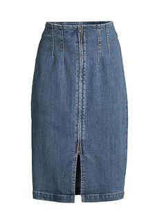Rebecca Taylor LV Denim Midi Skirt