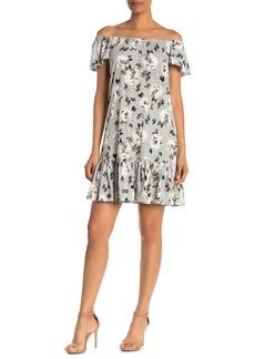 Rebecca Taylor Magnolia Off-the-Shoulder Jersey Mini Dress