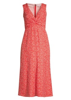 Rebecca Taylor Malia Twist Sleeveless Floral Dress