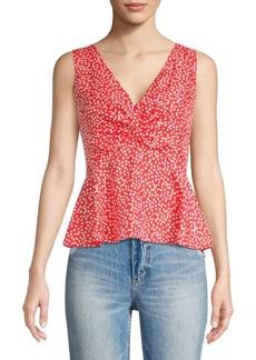 Rebecca Taylor Malia Twist Sleeveless Floral Tank Top