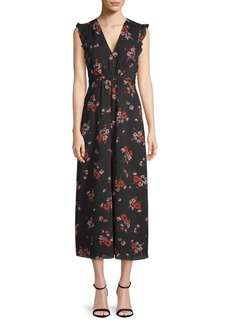 Rebecca Taylor Marguerite Floral Midi Dress