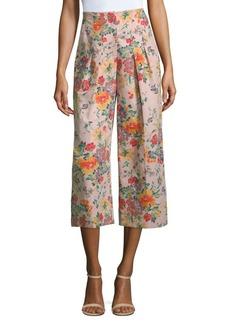 Rebecca Taylor Marlena Floral Cropped Pants