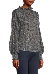 Rebecca Taylor Meadow Long-Sleeve Blouse