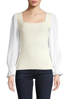 Rebecca Taylor Merino Wool & Silk Top