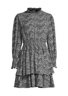 Rebecca Taylor Mini Tiger-Print Dress