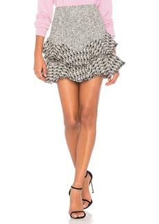 Mixed Tweed Skirt