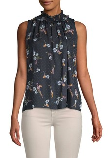 Rebecca Taylor Natalie Floral Sleeveless Silk Top