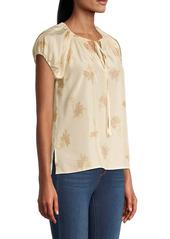Rebecca Taylor Nora Short-Sleeve Silk Blouse