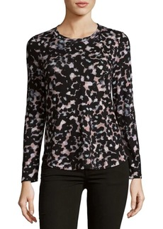 Rebecca Taylor Oleander Cotton Jersey Top
