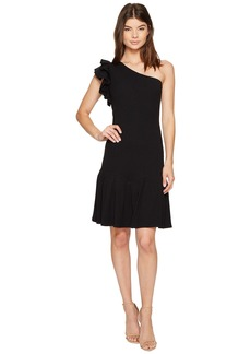 Rebecca Taylor One Shoulder Rib Jersey Dress