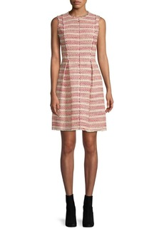 Rebecca Taylor Optic Striped Tweed Dress