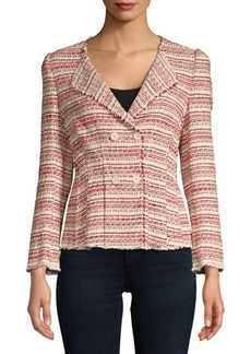 Rebecca Taylor Optic Striped Tweed Jacket