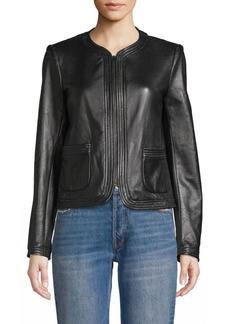 Rebecca Taylor Patch Pocket Leather Jacket