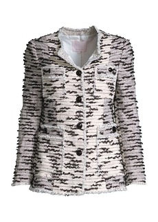 Rebecca Taylor Patched Tweed Jacket
