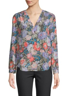 Rebecca Taylor Penelope Long-Sleeve Silk Top