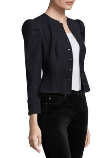 Rebecca Taylor Pinstripe Victorian Blazer